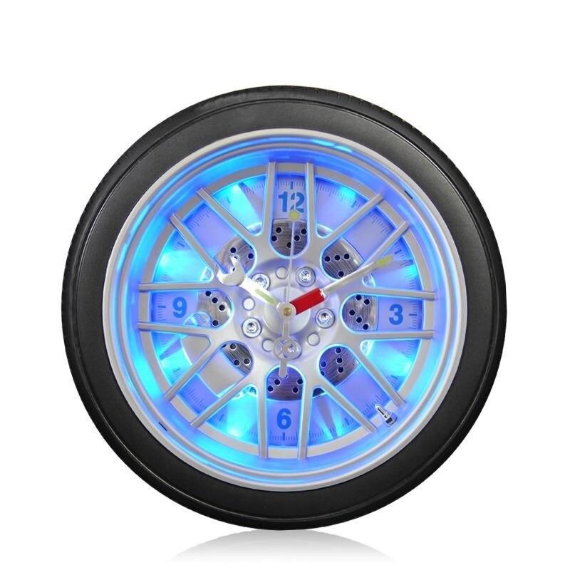 Nowości kreatywne Led cyfrowe opony samochodowe zegar ścienny egzotyczne spersonalizowane led light rosnące zegar car bar zegar dekoracyjny