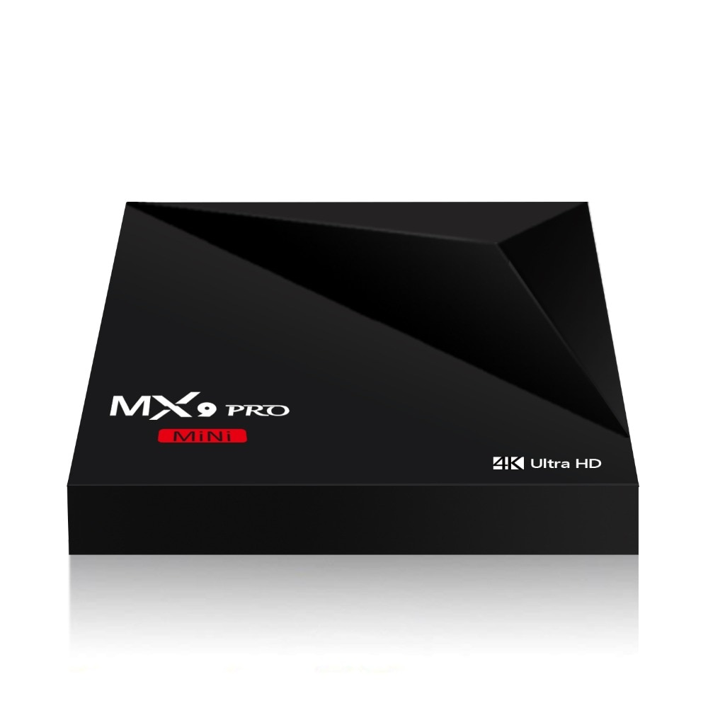 10pc * MX9 Pro Mini Android 7,1 caja de TV RK3328 Quad Core 4K película WiFi LAN HD 1GB + 8GB