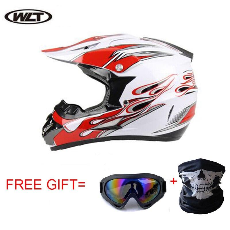 Motocross capacetes fora da estrada de corrida capacete da motocicleta óculos atv mtb dh moto capacete da bicicleta sujeira com óculos máscara presentes