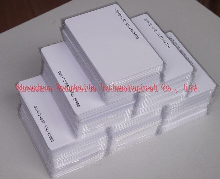 Atacado 500 pçs/lote 125 KHz cartão RFID regravável R80 Atmel T5567/T5577/T5557 cartão Em Branco cartão de identificação