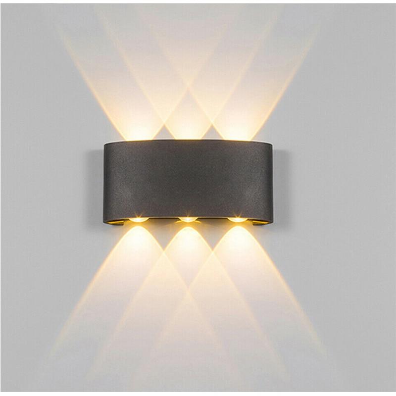 Estilo nórdico LED porche luz impermeable al aire libre 6W 8W LED lámpara de pared para jardín patio corredor lámpara de iluminación decoración