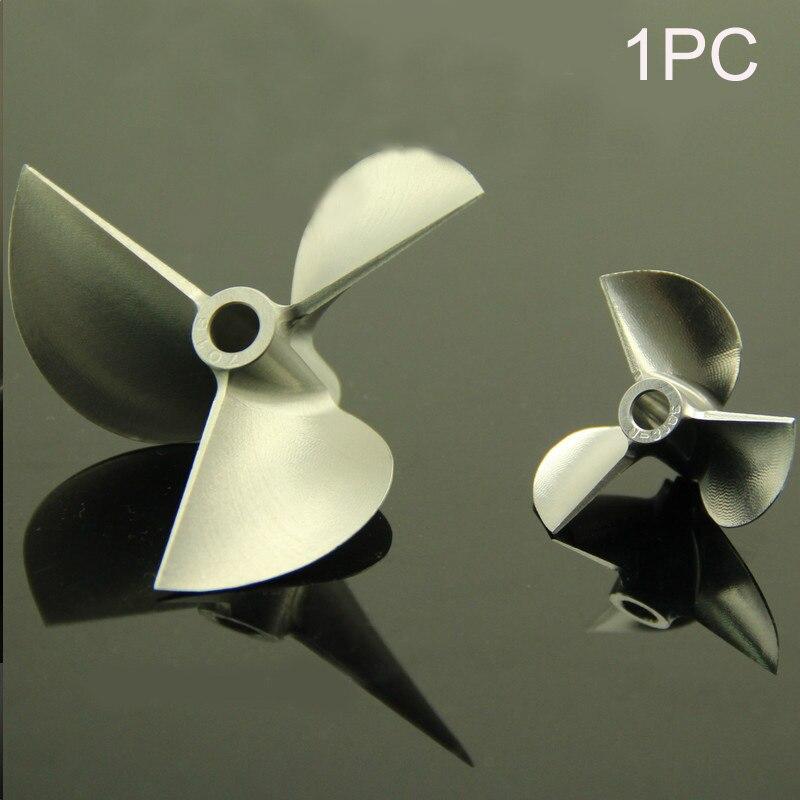 1 pieza CNC de paleta de aleación de aluminio CW CCW 3 cuchillas hélice Dia 32/34/36/38/40/42/43/45/48/54/55/70mm hélices para barco RC modelo
