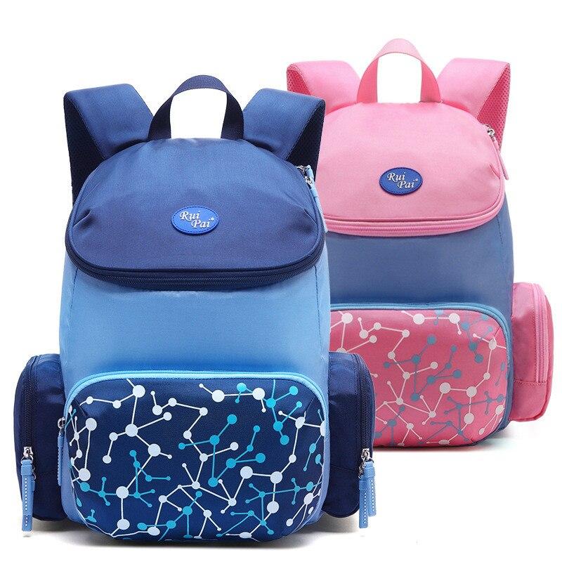 Детские школьные сумки, ортопедический рюкзак для девочек и мальчиков, водонепроницаемый рюкзак, дорожная сумка, рюкзак, 2 размера