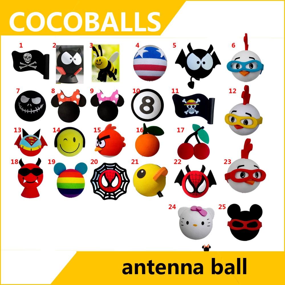 Cocoballs abeja jack bandera antena topper para coche pelota aérea decoración dibujo animado adorable y divertido espuma encantador Exterior FPV