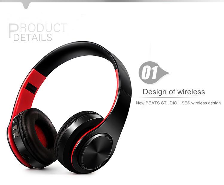 Słuchawki Bluetooth Headset słuchawki Bezprzewodowe Słuchawki Stereo Składany Sport Słuchawki Mikrofon słuchawki Tryb Głośnomówiący odtwarzacz MP3 4