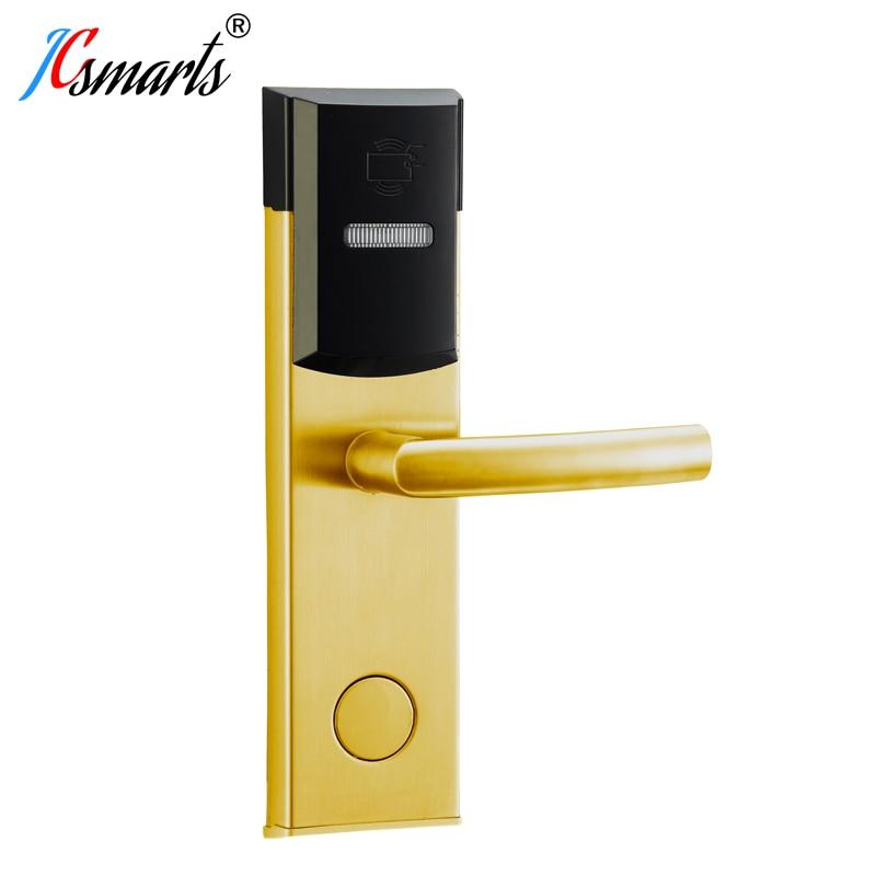 Smart design RF card digital door lock Intelligent hotel lock AA battery powered dampproof and dustproof