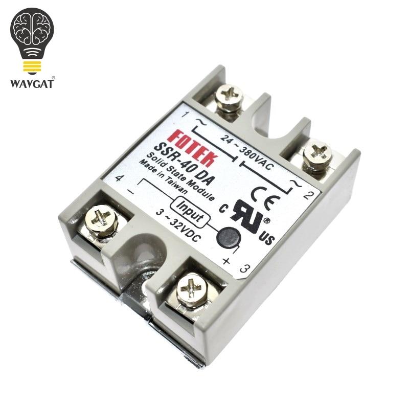WAVGAT твердотельное реле SSR-10DA SSR-25DA 10A 25A 40A фактически 3-32 В постоянного тока в 24-380 В переменного тока SSR 10DA 25DA 40DA