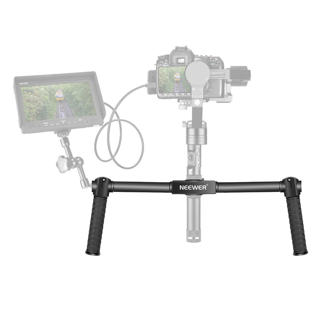 Neewer двойная ручная ручка для Neewer крана/крана M/Zhiyun/крана M 3-осевой стабилизатор 1,5 фута/46,5 см камера Gimbal