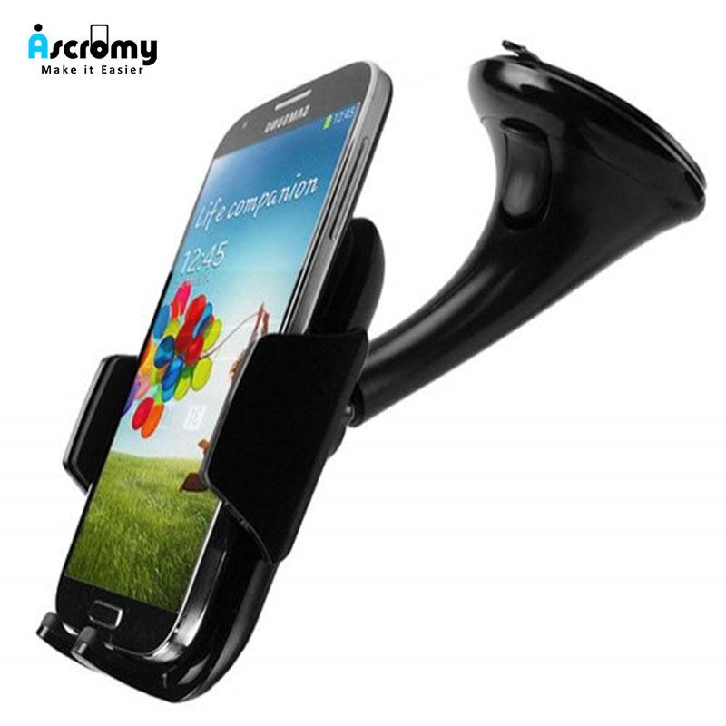 Ascromy coche salpicadero o parabrisas Universal de teléfono inteligente titular de montaje para Xiaomi Redmi Nota 7 Pro iPhone XS Max X XR 7 8 Plus 6, 6S