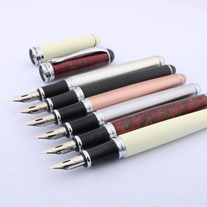 High quality JINHAO 750 Fountain Pen Copperplate calligraphy G NIB Round flourish body Stationery Office school supplies ink pen