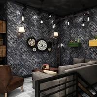 vintgae brick wallpaper 3d red grey waterproof wall paper roll for shop bar background walls contact paper carta da parati