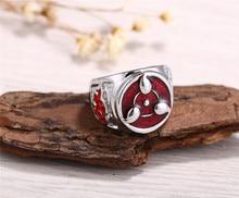 Anime Naruto Sharingan Akatsuki Rings Metal Jewelry Accessories Action Figure Cosplay Ring Toys Gift
