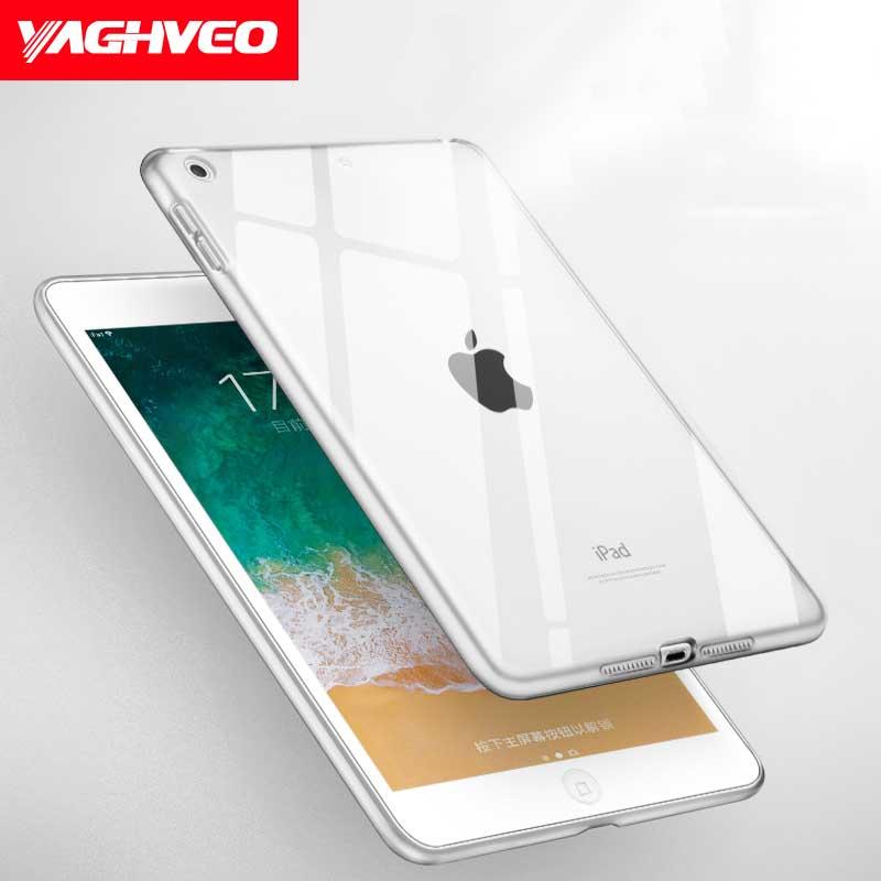 Funda VAGHVEO para iPad 2018 2017 9,7 pulgadas TPU transparente silicona gradiente de Color para IPad A1893 A1954 A1822 A1823