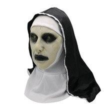 Nouveau film de terreur la nonne Valak masque Cosplay le Conjuring effrayant masque pleine tête Halloween accessoires masque