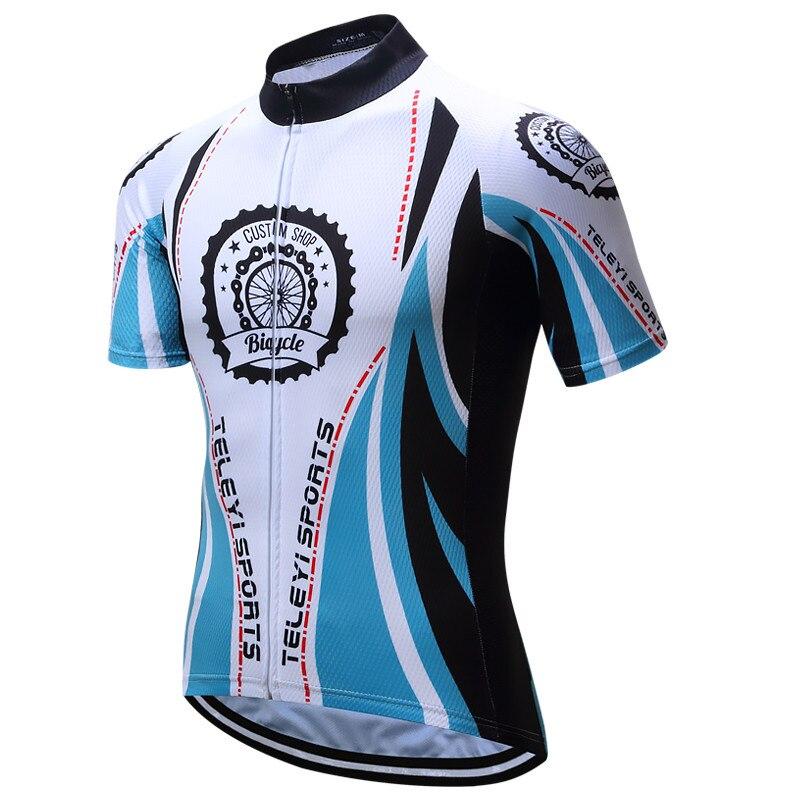 Ropa deportiva para Ciclismo Teleyi, Ropa transpirable de verano para Ciclismo, Ropa para Ciclismo de secado rápido, Ropa para Ciclismo, camiseta de Ciclismo de carreras