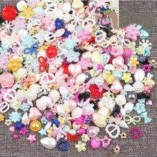 Perles demi-rondes 4-20mm aléatoires   200 pièces, perles à nœud de Seastar, perles à dos plat, perles Loose, perles à nœud, Star, fond ABS plat