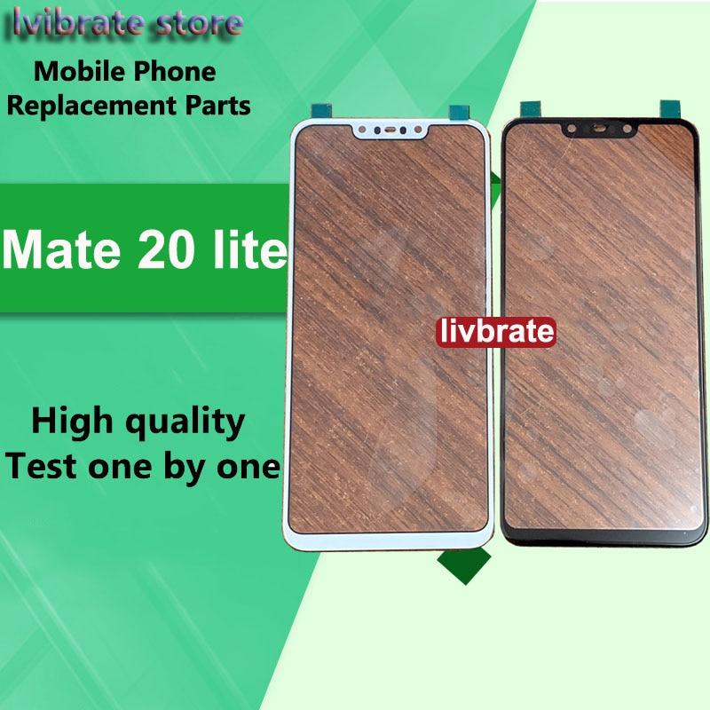 Para Huawei Companheiro 20 lite Frente Outer Lente de Vidro Da Tela Do Painel de Toque Mate20 Mate20lite lite Substituição LCD de Toque de Vidro Digitalizador