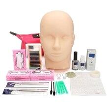 Nouveau-Extensions de cils trousse à outils cils Semi-Permanent maquillage individuel faux cils Curl colle pince pratique greffer cils