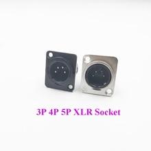 Connecteurs de prise métallique 3/4/5/6/7 broches   Broches en métal XLR micro Audio mâle femelle 3P 4P 5P 6P 7 P XLR connecteur adaptateur
