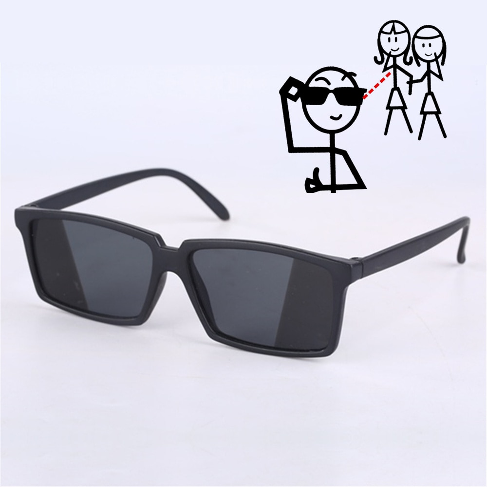 Oulylan Anti-tracking rearview glasses See Behind Spy Sunglasses Shades with Mirror on Side Ends Cos
