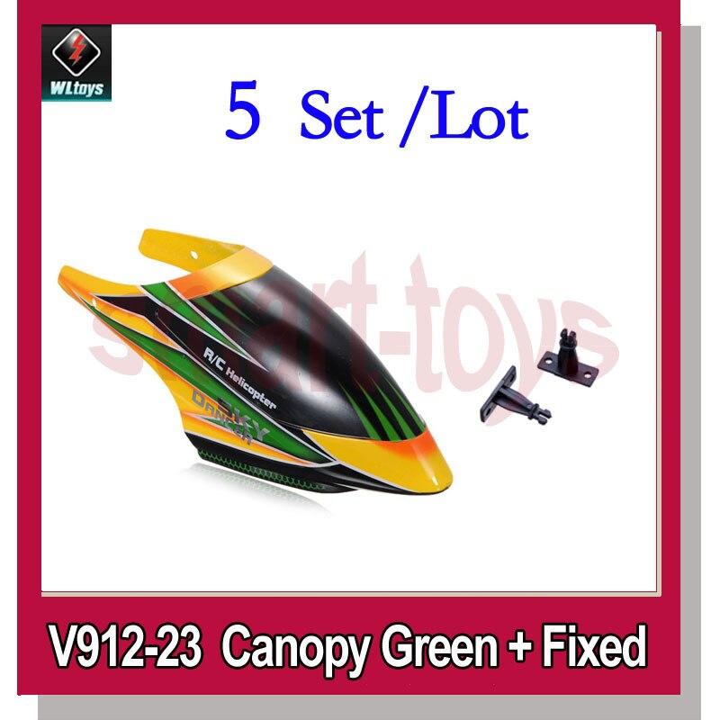 5 Set V912-23 dosel verde naranja para WLtoys V912 4CH RC helicóptero piezas de repuesto