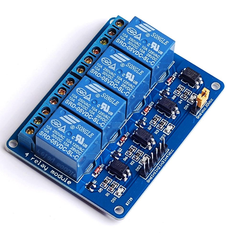VONETS 5 в 4-канальный 4-канальный Релейный Модуль Щит Плата для Arduino ARM PIC AVR DSP электронные 10А Аксессуары Гаджеты