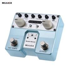 Mooer reverie reverb 기타 이펙트 페달 5 잔향 모드 5 2 개의 풋 스위치로 효과 향상