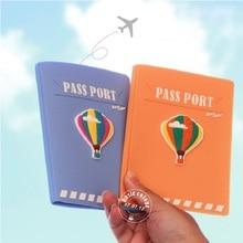 Nouvelle russie passeport couvre Kawaii ballon Pass Document rose silicone USA passeport titulaire pour femmes voyage accessoires 1 pièces