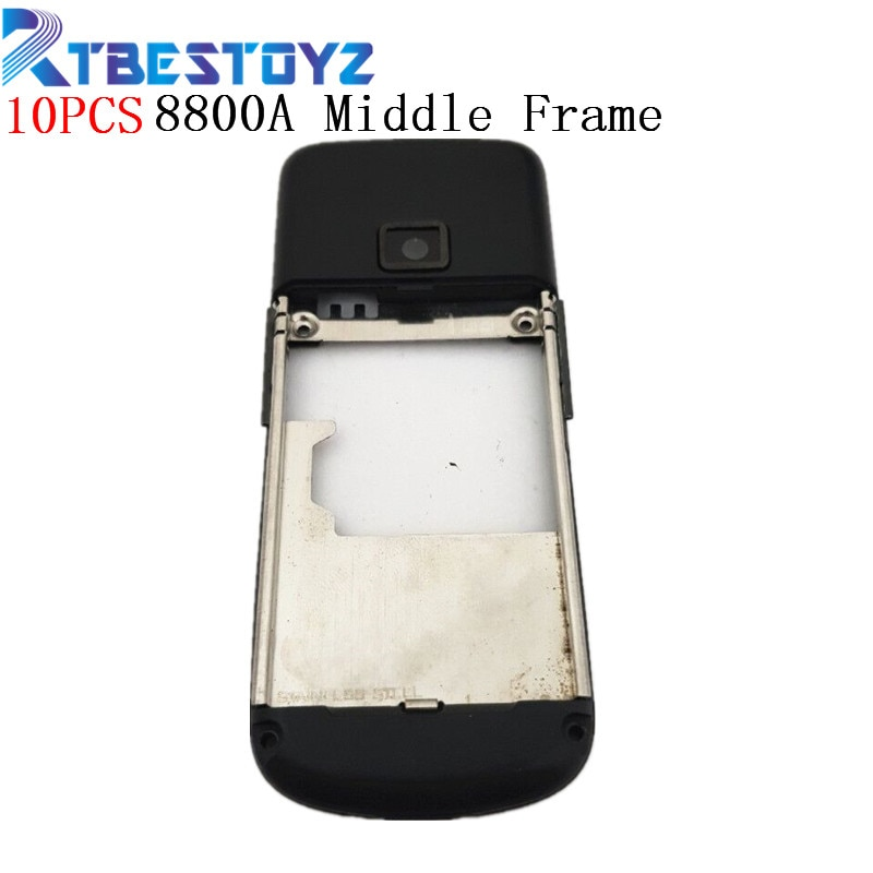 RTBESTOYZ 10 unids/lote carcasa negra reemplazo del marco medio negro para Nokia 8800 Arte 8800A