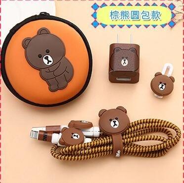 Para iphone 5 6 6s 7 8 Cable USB Protector de auriculares, cargador devanadera, pegatinas de TPU, Protector de Cable espiral con funda para auriculares