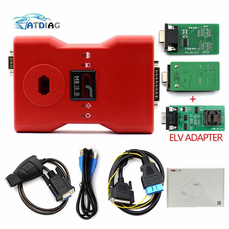 Gran oferta CGDI Prog MB para Benz Car Key Add más rápido para Benz programador de llaves soporta todas las llaves perdidas con adaptador ELV