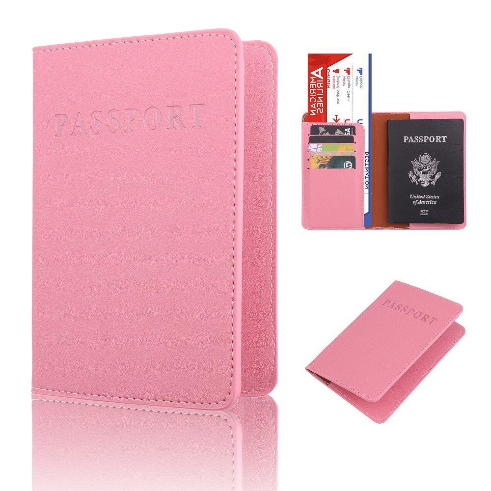 Funda protectora para pasaporte de PU con purpurina de color caramelo, tarjetero de identificación, tarjeta de crédito, Pasaporte de viaje