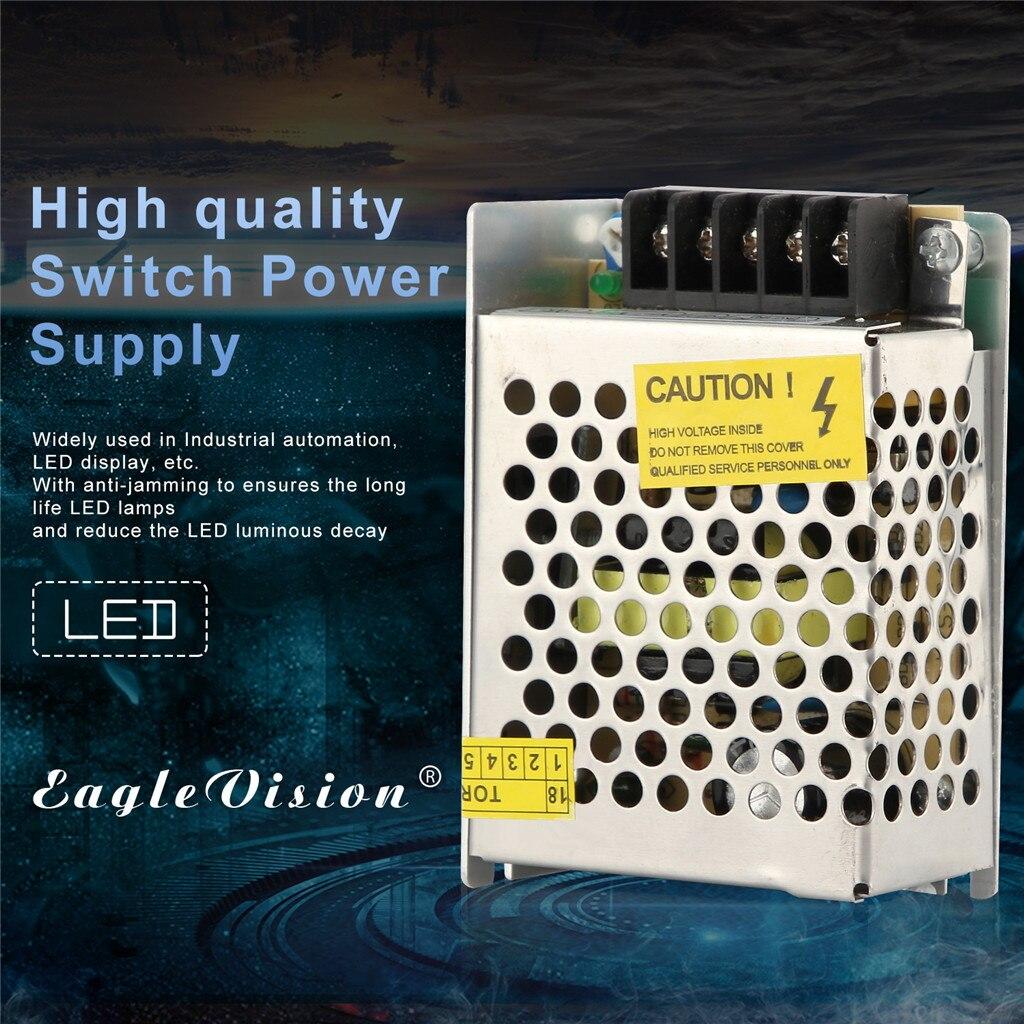 2019 caliente AC 110V-220V a DC 12V 24W 2A interruptor fuente de alimentación adaptador de Controlador LED tira de luz Drop Shipping