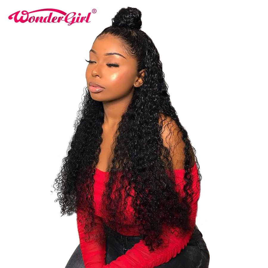 Water Wave Wig Remy Middle Part Lace Frontal Wig Pre Plucked With Baby Hair Peruvian Lace Front Human Hair Wigs Wonder girl