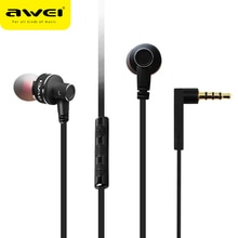 AWEI ES-10TY Stereo In-Ear Kopfhörer Wired Headset Metall Kopfhörer Super Bass HIFI Ohrhörer Ohrhörer Mit Mic Für Samsung Oneplus