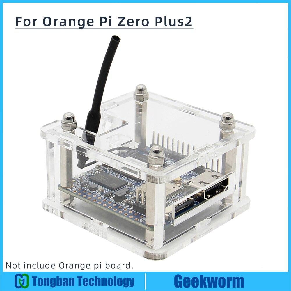 Carcasa de acrílico naranja Pi Zero Plus2/caja transparente/conjunto de carcasa protectora para Orange Pi Zero Plus2/Plus2