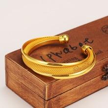 4PCMesh Bangle for Women men Gold Color Bracelets Jewelry Bendable Accessory Arab bracelet bangle charms Middle East gift Muslim