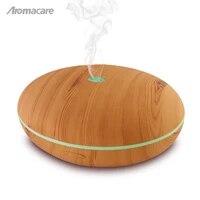 Aromacare 400ml humidificateur dair diffuseur dhuile essentielle arome lampe aromatherapie electrique arome diffuseur brumisateur pour la maison-bois