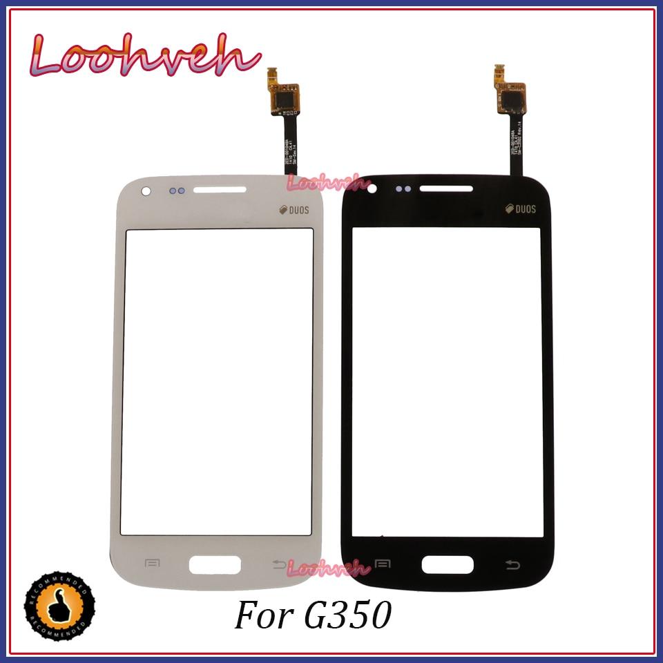 10 unids/lote alta calidad 4,3 para Samsung Galaxy Core Plus SM-G350 G350 G3502 pantalla táctil digitalizador Sensor lente de cristal panel