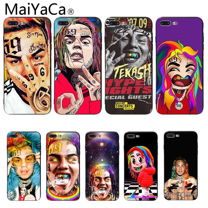 Capa para iphone 7 6ix9ine macio silicone caso de telefone para iphone 6 5 5S se 6 s 6 plus 6 splus 7 plus 8 8 plus x