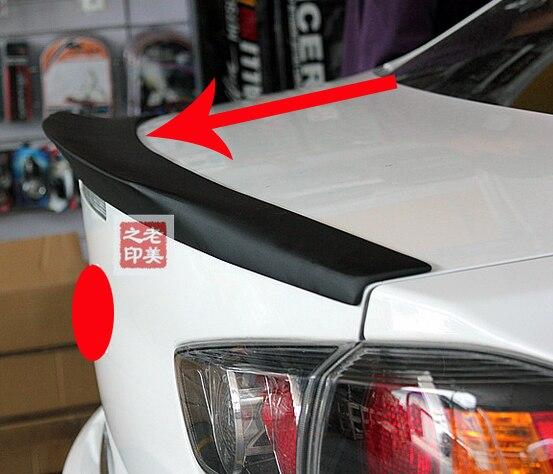 Para Mitsubishi Lancer 2008, 2009, 2010, 2011, 2012 negro Primer OEM estilo de fábrica ABS Spoiler