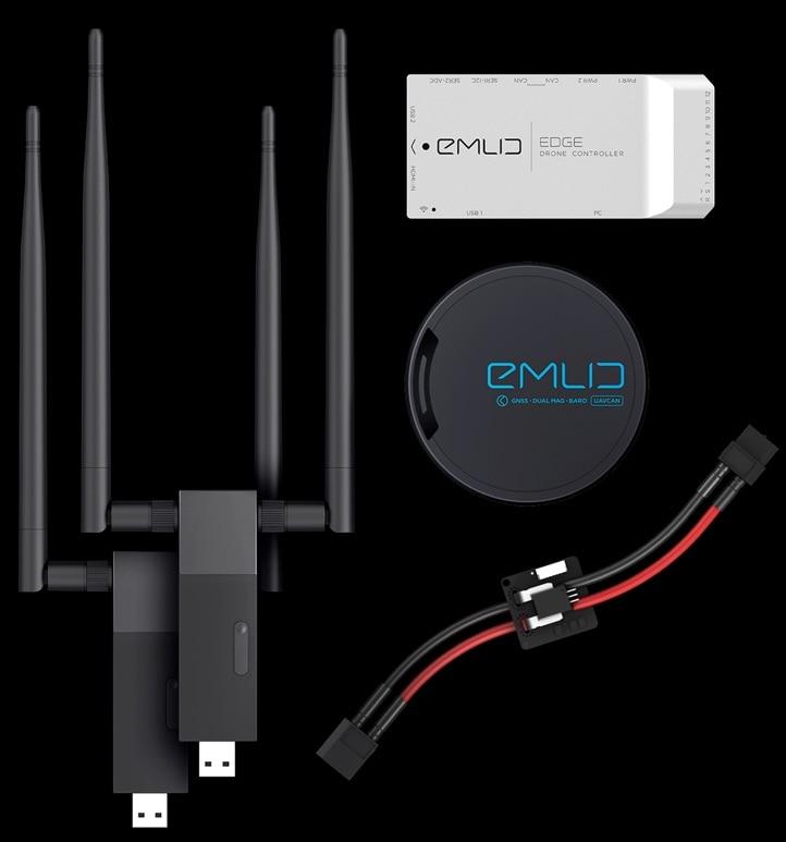 EDGE uav control de vuelo HDMI video 5,8 GHz 2km transmisión de datos gráfico diferencial GPS