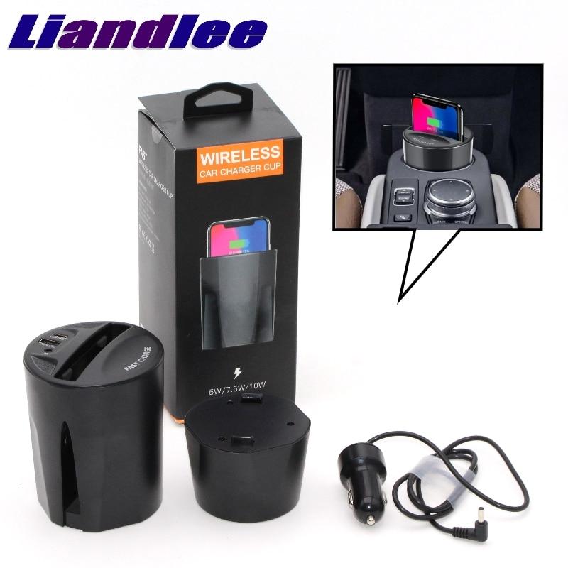Cargador tipo taza para teléfono inalámbrico LiandLee Qi para el coche, cargador rápido para Mitsubishi L200 Triton Strada Sportero Hunter xpender
