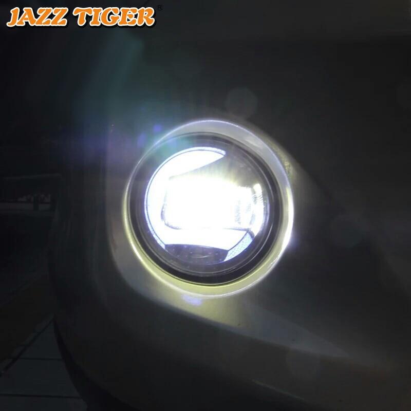 2-в-1 функции автомобиля светодиодный светильник дневного света Противотуманные фары проектор для Toyota Corolla Camry Highlander RAV4 Fortuner Prius