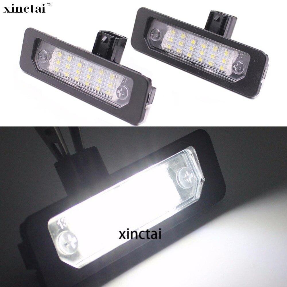2 uds Error libre 12v Canbus LED para placa de matrícula luz para Ford fusión mercurio Mustang Flex Taurus se