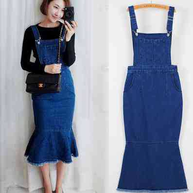 Vestido de brim feminino 2020 outono estilo coreano vintage bodycon cinta sereia azul jeans vestido casual longo macacão 1212