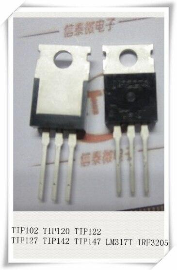 10 шт., TO220 TIP102 TIP120 TIP122 TIP127 TIP142 TIP147 IRF3205 транзистор TIP142T TIP147T