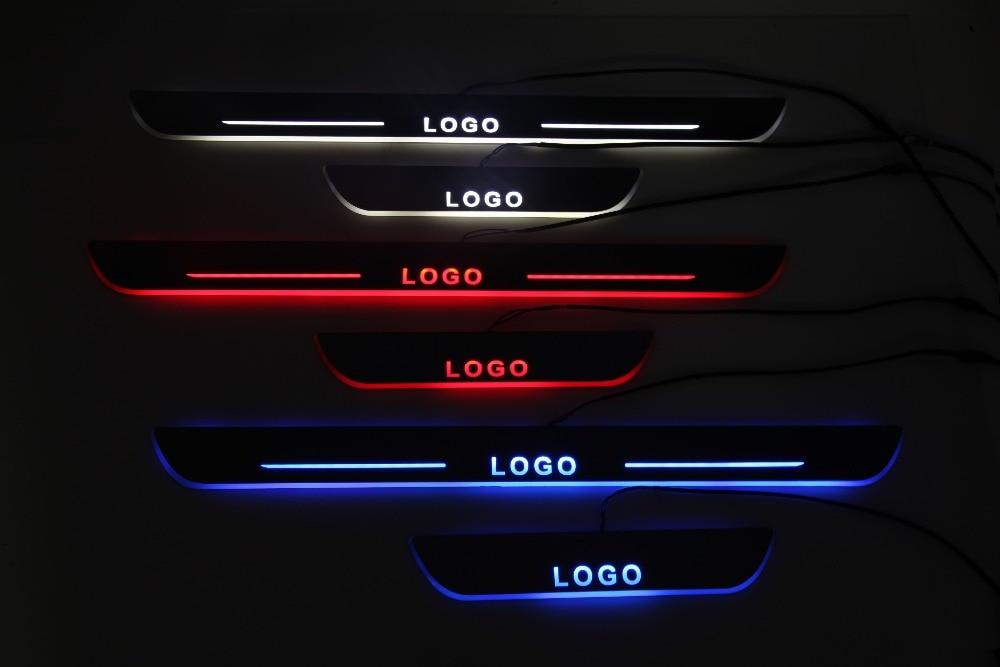 Qirun, personalizado, led, puerta móvil, placa de desgaste, revestimiento de umbral, Lámpara decorativa de bienvenida para BMW 745Li 750i xDrive