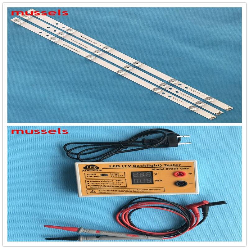 """LED de retroiluminación para LG 32 """"TV 6 lámpara 32MB25VQ 6916l-1974A 6916l-1981A innotek drt 3,0 32 32LB582V 3 piezas y probador de LED 1 piezas"""