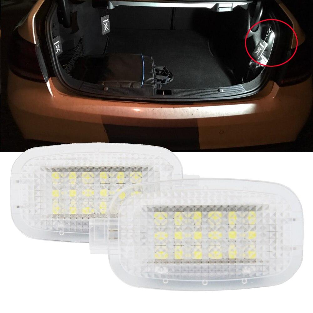 Светодиодная подсветка под дверь, 2 шт., багажный отсек, косметическое зеркало для Benz W204 W216 W212 C207 X204 GLK W221 R230